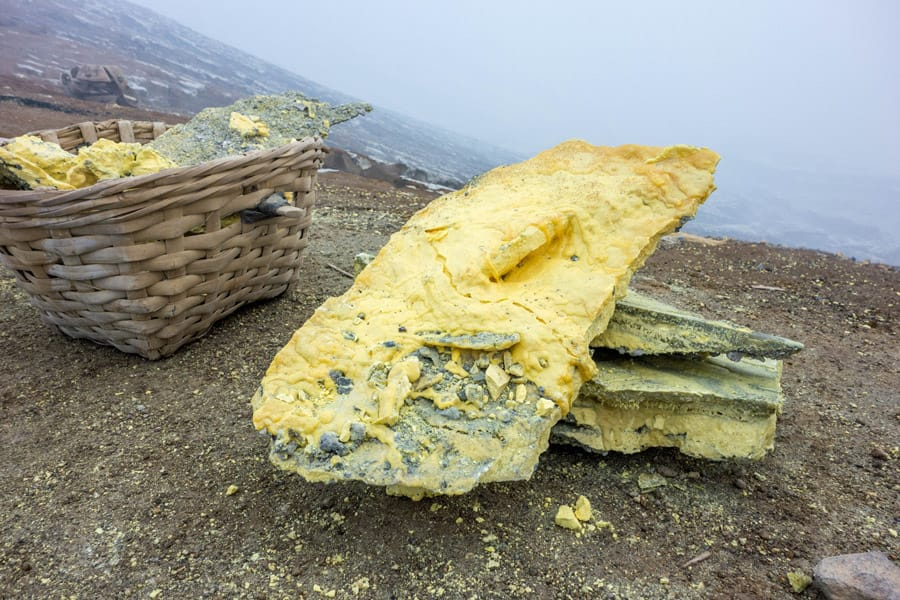 Sulfur from Mount Ijen