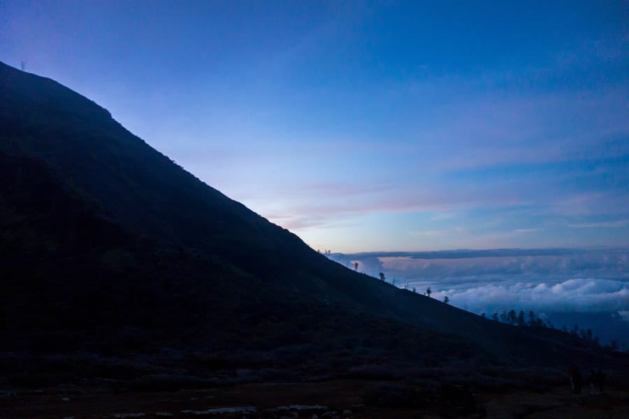 Sunrise on Mount Ijen