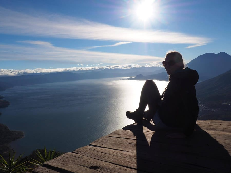 Sunrise on Indian's Nose at Lake Atitlan Guatemala