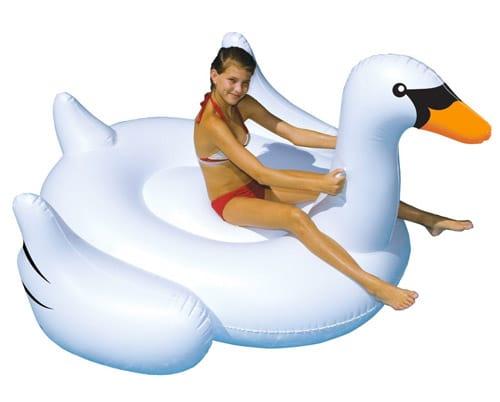 Swimline Large Jumbo Inflatable Giant Swan