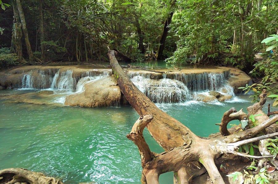 Erawan National Park in Thailand