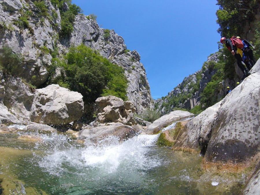 Canyoning on Cetina River in Croatia