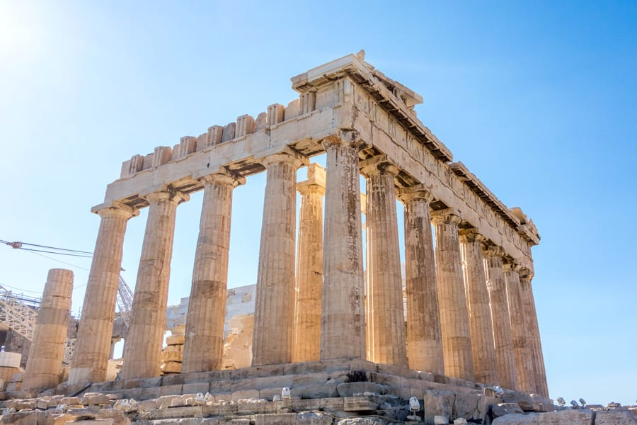 Parthenon Acropolis in Athens Greece