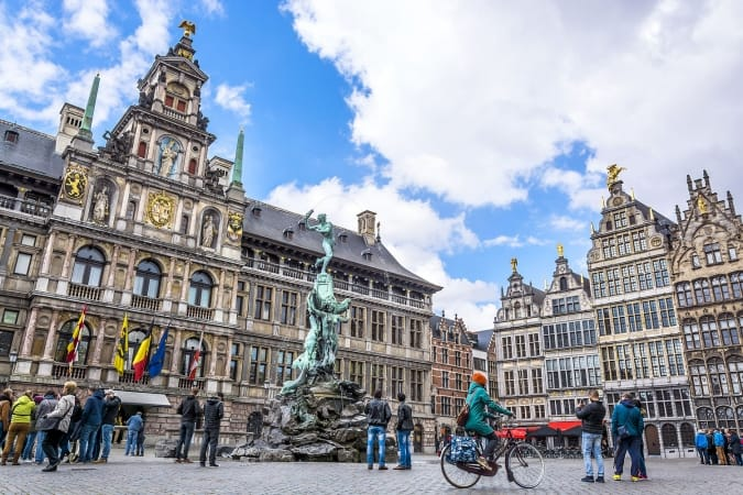 Grote Markt square in Antwerp, Belgium