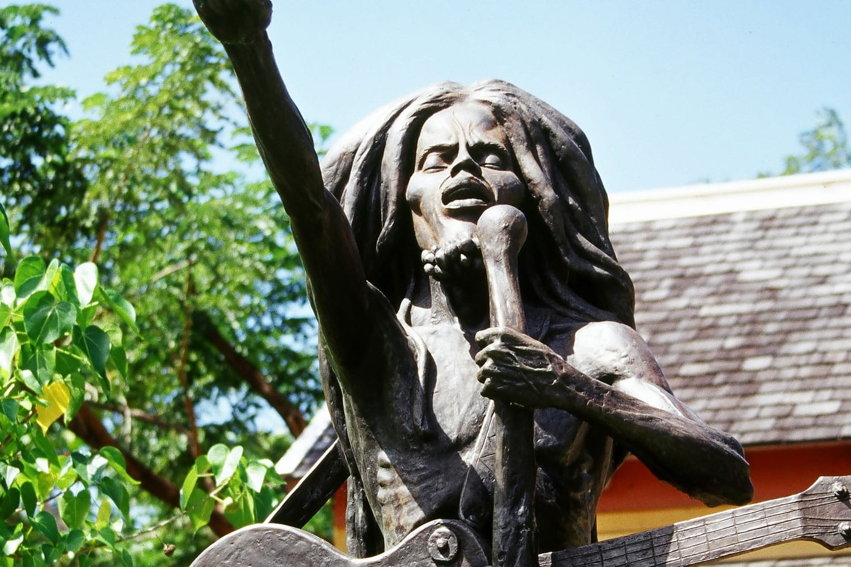 Bob Marley statue in Jamaica