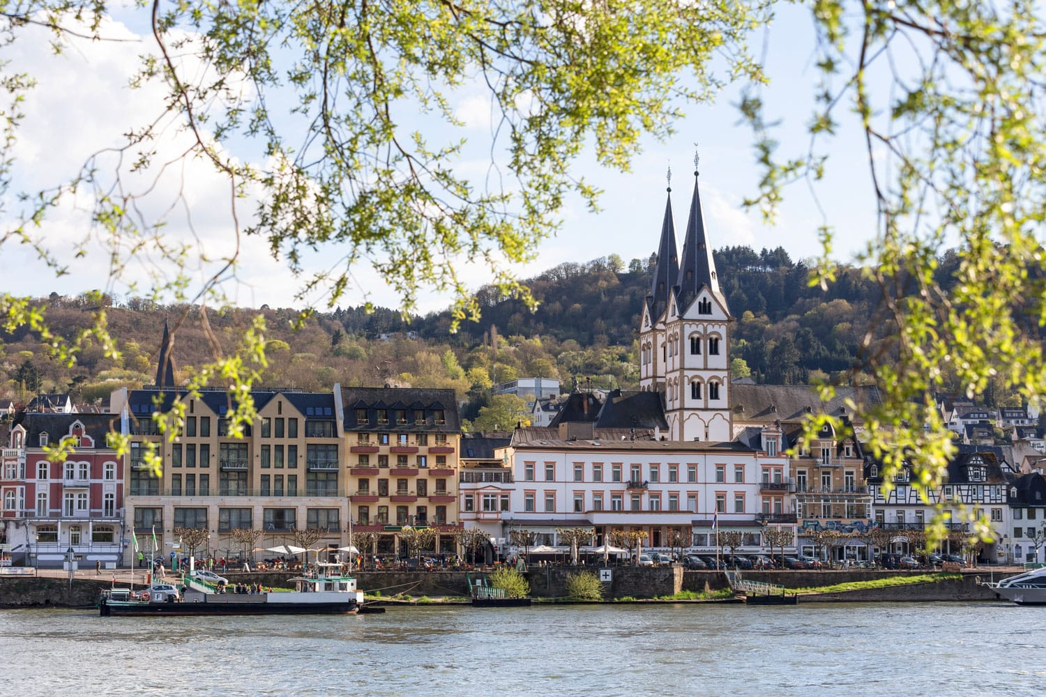 Boppard and the Rhine River in Germany