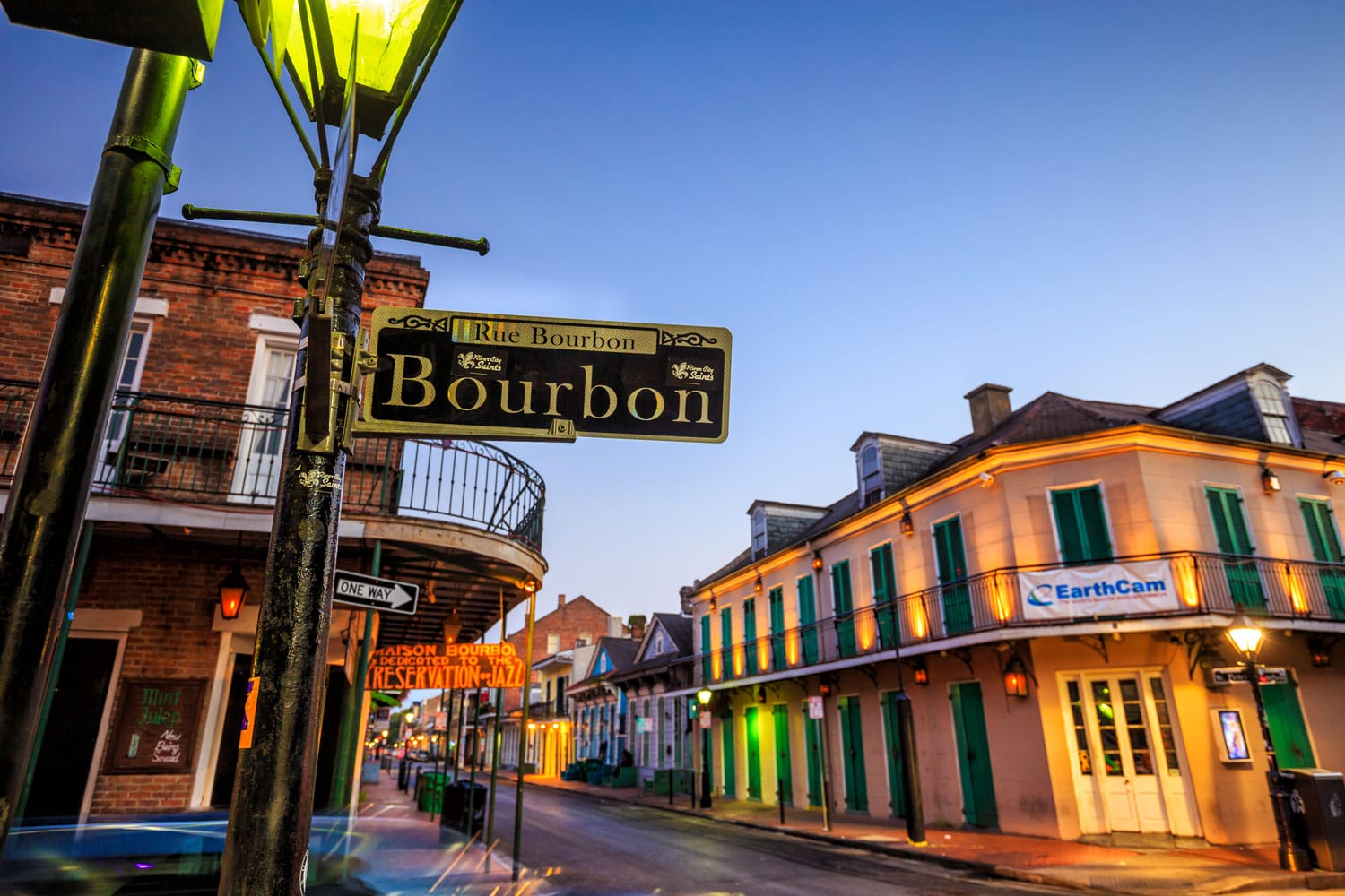 Bourbon Street in the French Quarter, New Orleans