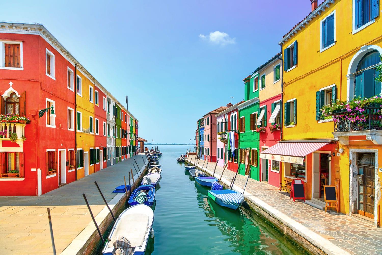 Burano island in Italy