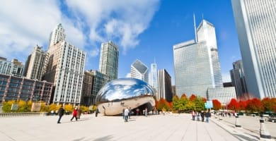 Millennium Park in downtown Chicago, Illinois