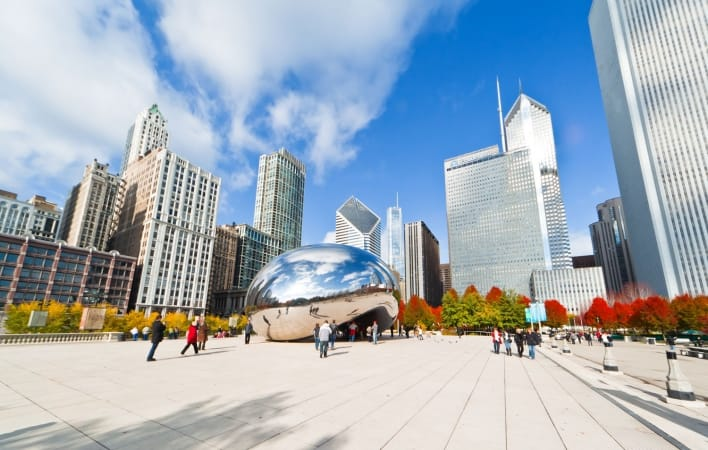 Millennium Park in downtown Chicago, Illinois