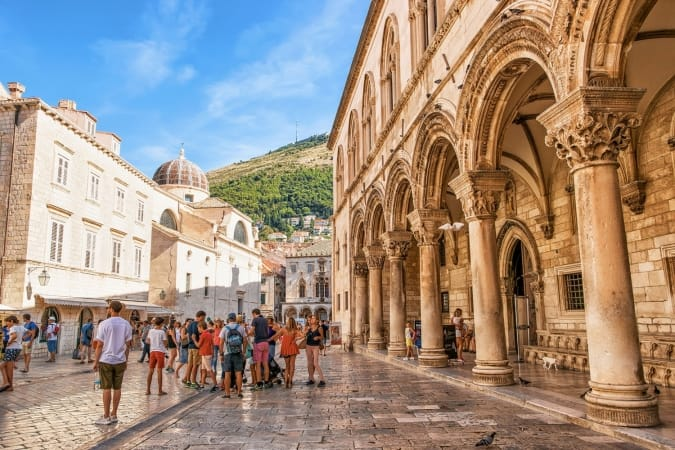 Rector Palace on Stradun Street in the Old city of Dubrovnik, Croatia
