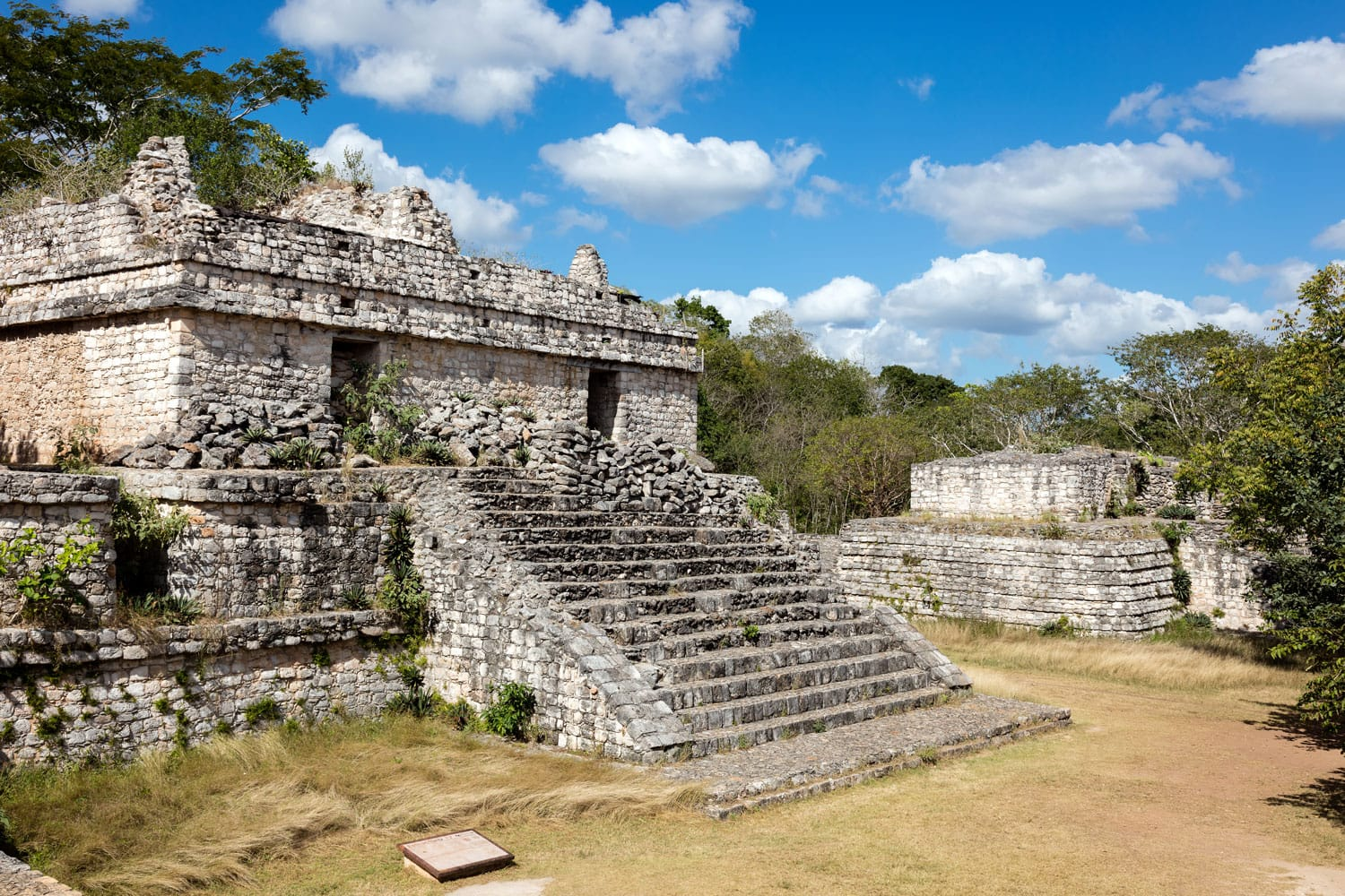 Ruins of the ancient Mayan temple in Ek Balama in Temozon, Yucatan, Mexico