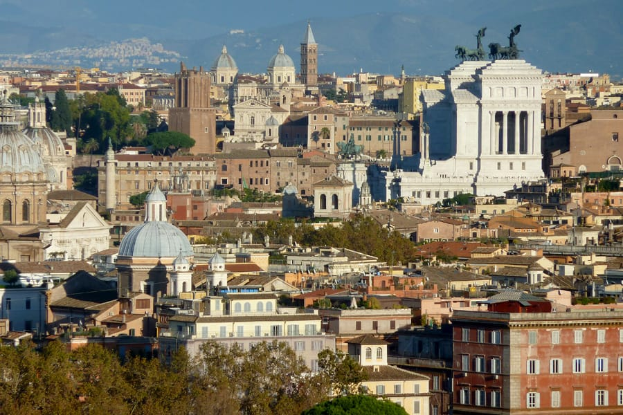 View from Gianicolo Hill in Rome