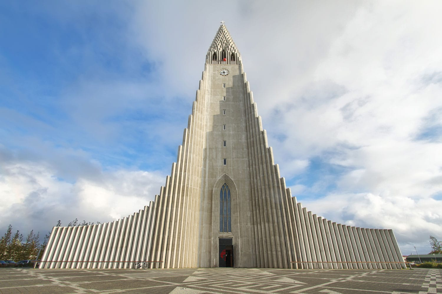Hallgrimskirkja Cathedral in Reykjavik, Iceland. At 73 metres (244 ft), it is the largest church in Iceland.