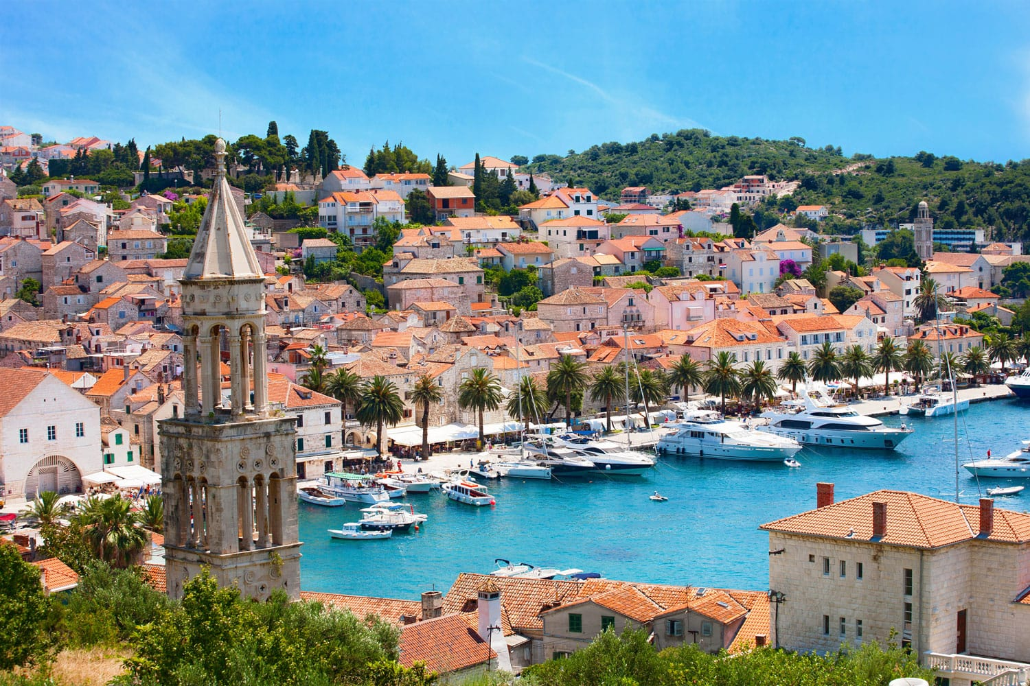 View of Hvar city in Croatia