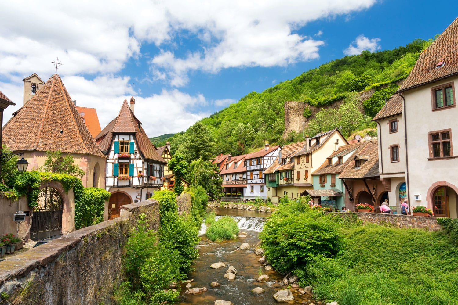 Kaysersberg village, Alsace, France