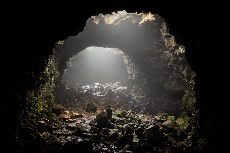 Raufarholshellir lava cave, South Iceland