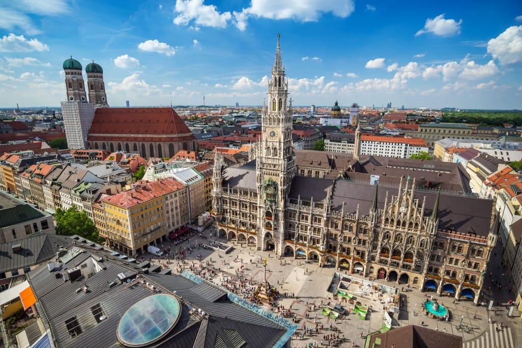 Munich city skyline, Germany