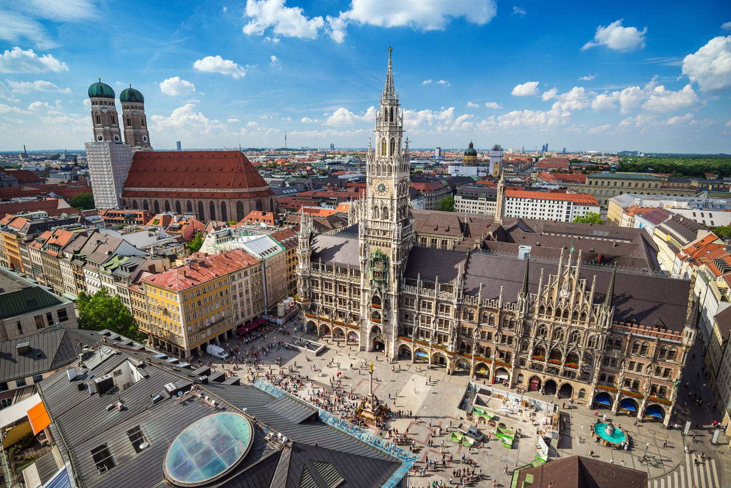 Munich city skyline, Germany