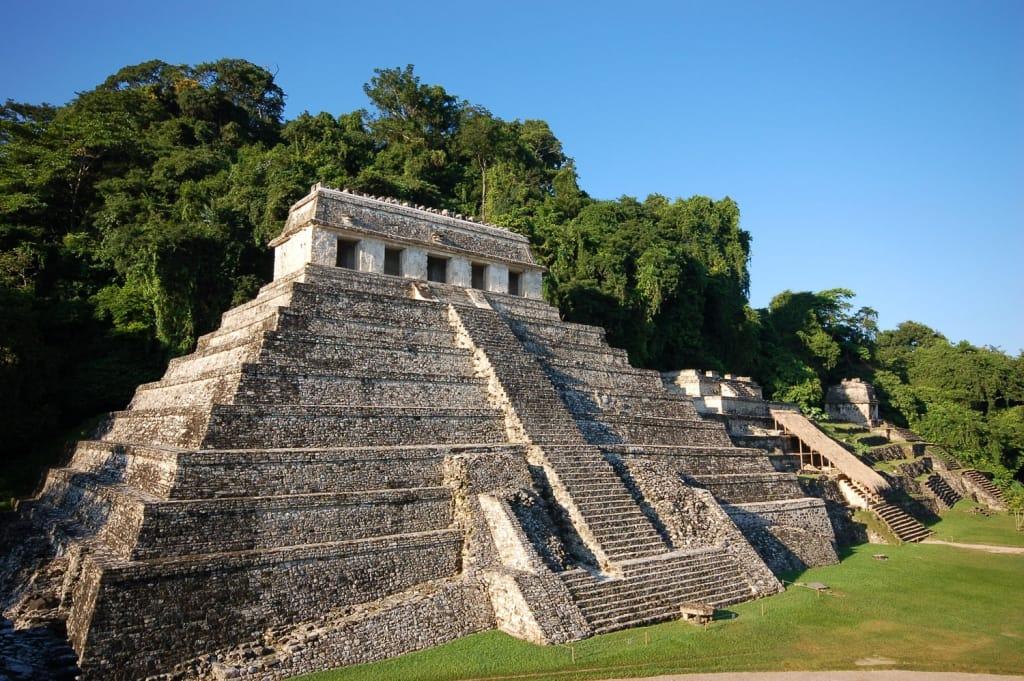 Palenque Mayan ruins in Chiapas Mexico