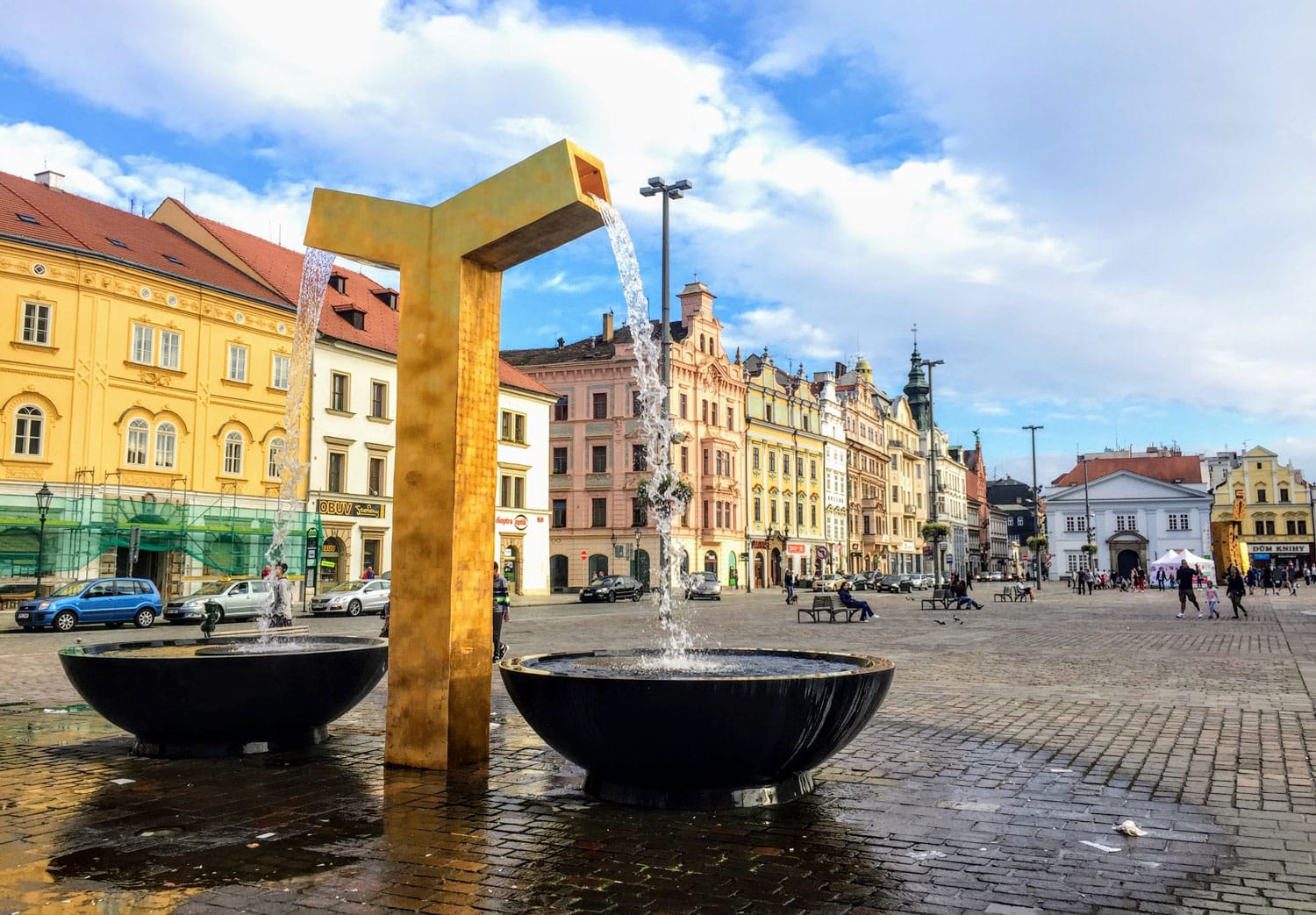 Fountain in Pilsen, Czech Republic