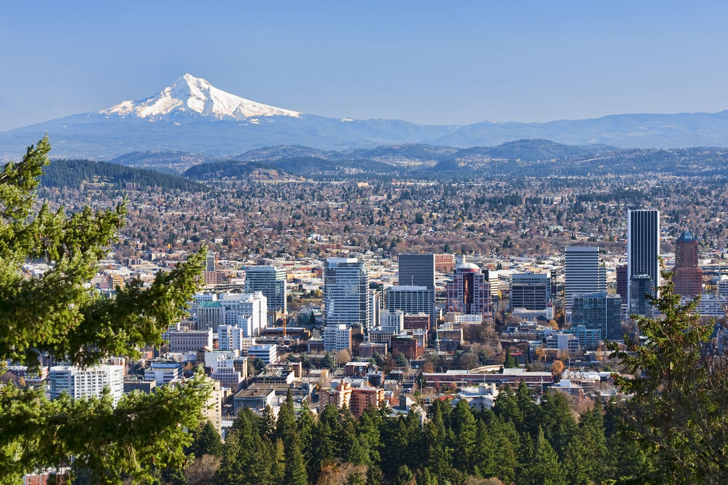 View of Portland, Oregon from Pittock Mansion