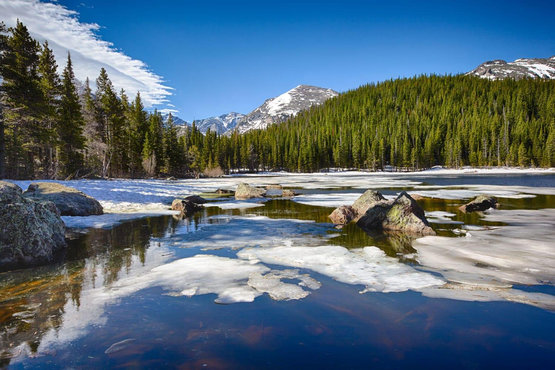 Bear Lake at the Rocky Mountain National Park, Colorado, USA
