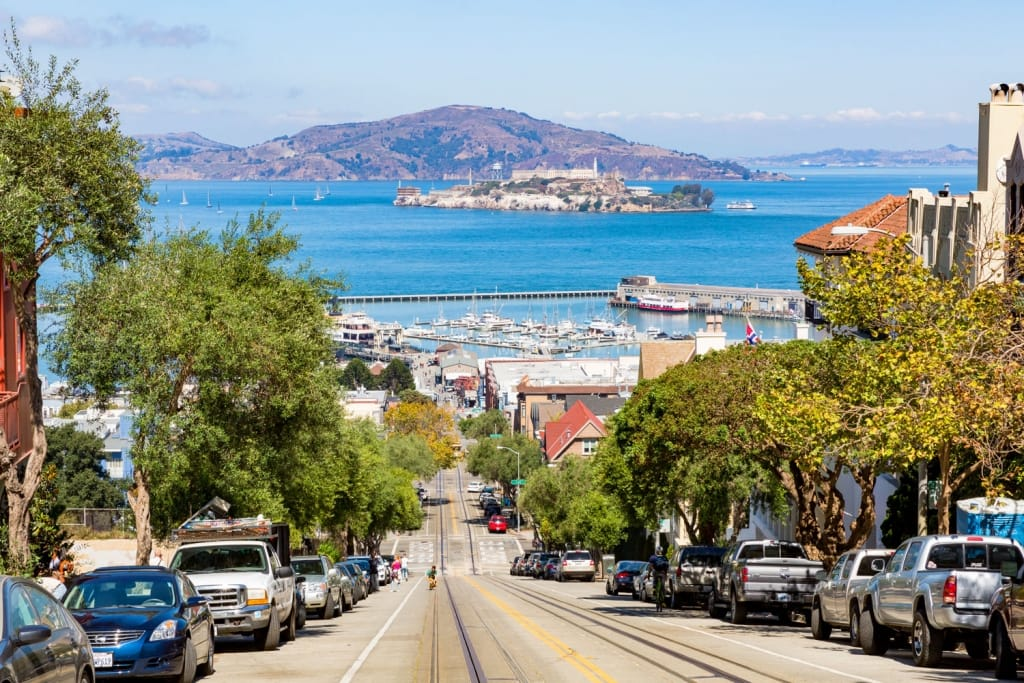 View of the Hyde Street in San Francisco