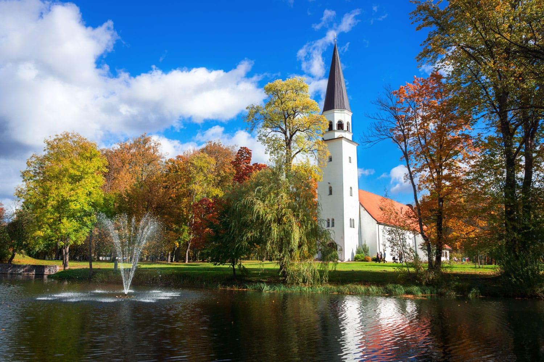 Lutheran Church of St. Berthold in Sigulda, Latvia.