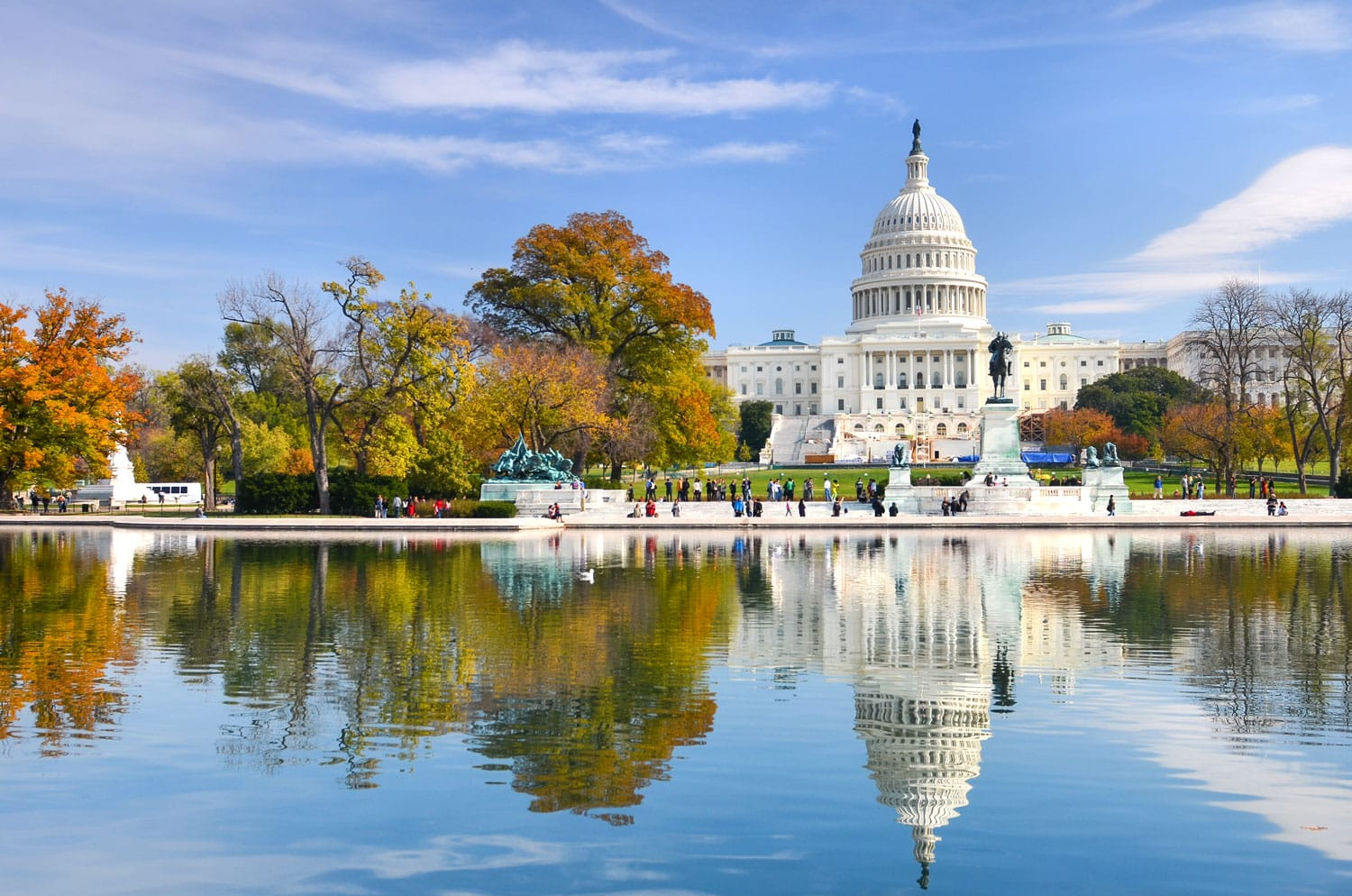 US Capitol Building in Autumn- Washington, DC United States