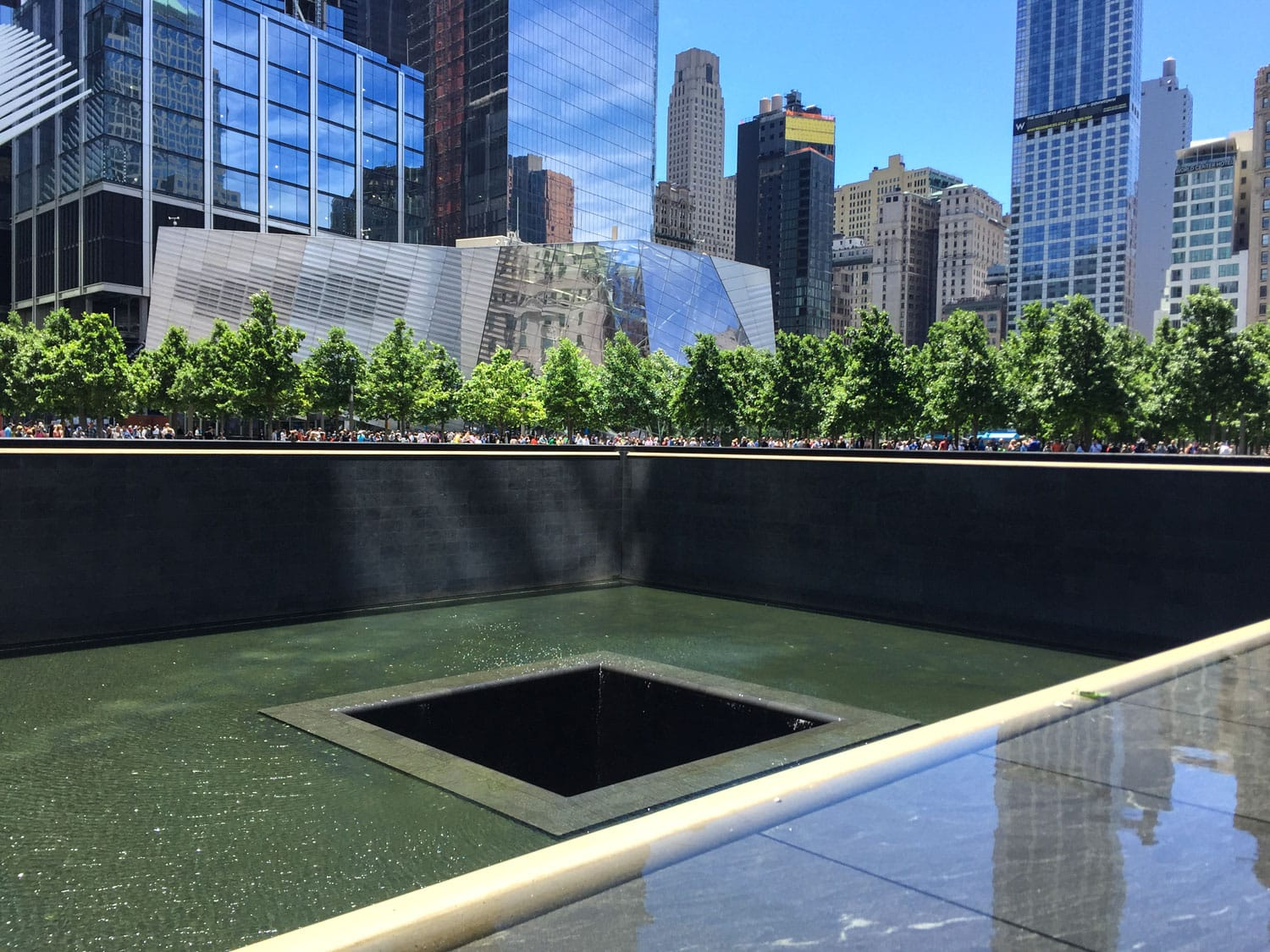 World trade Center memorial pond, New York City