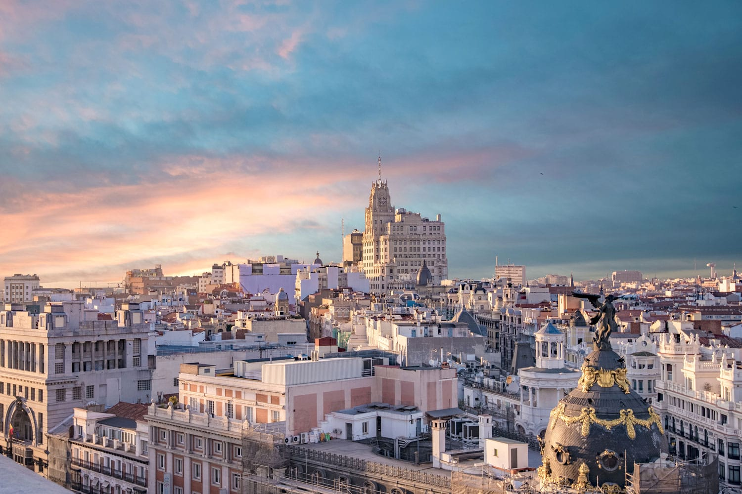 Aerial View of Madrid's Skyline
