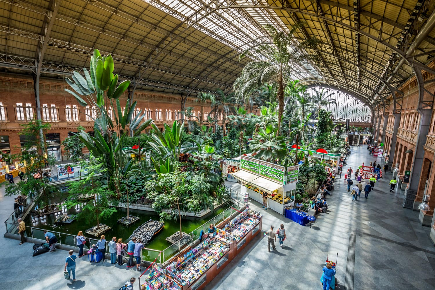 Tropical green house, location in 19th century Atocha Railway Station in Madrid, Spain