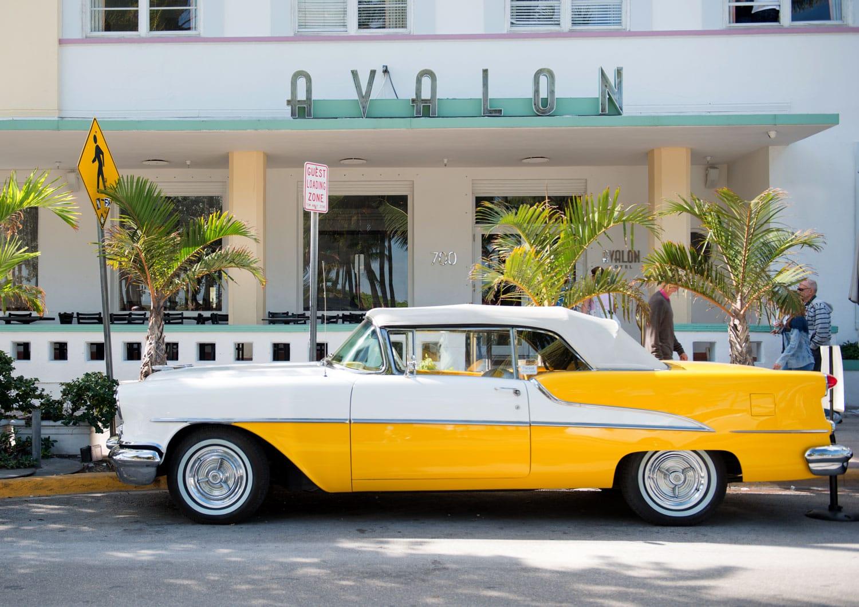 Ocean drive buildings in Miami South Beach, Florida