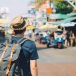 backpacker in Khaosan Road, Thailand