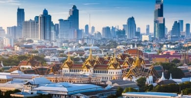The Golden Grand Palace of Bangkok in Thailand