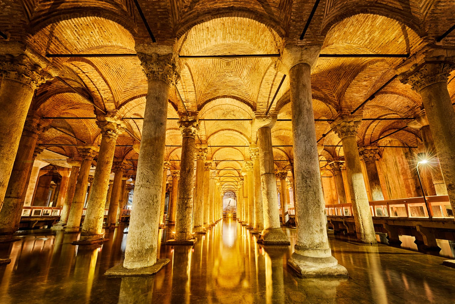 Basilica Cistern, largest ancient underground cistern in Istanbul, Turkey