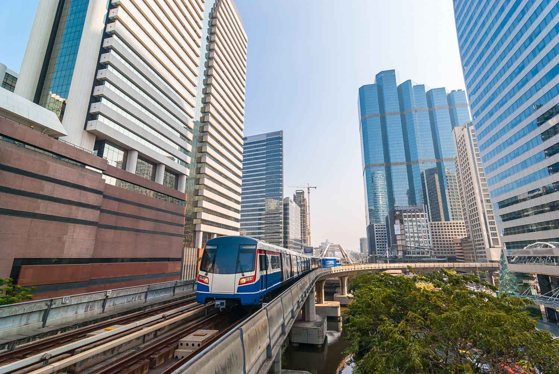 Skytrain in Bangkok Thailand