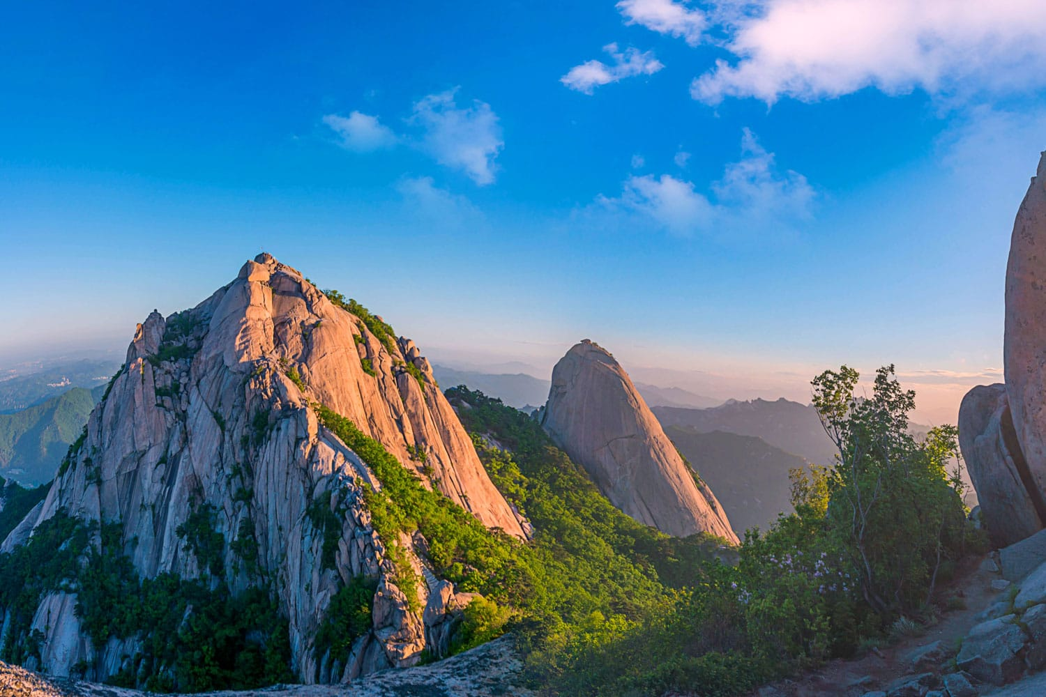 Bukhansan mountain in Seoul at Sunrise in Bukhansan National Park, South Korea