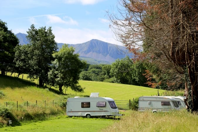 Campervans at a Campsite