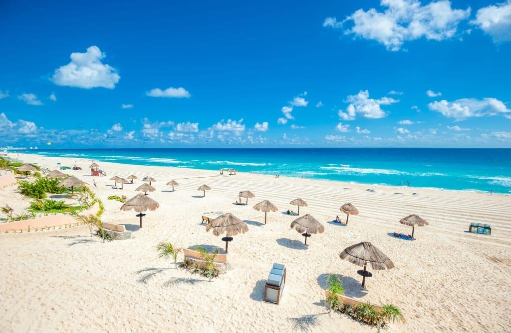 Beautiful beach in Cancun, Mexico