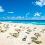 Beautiful beach in Cancun, Mexico