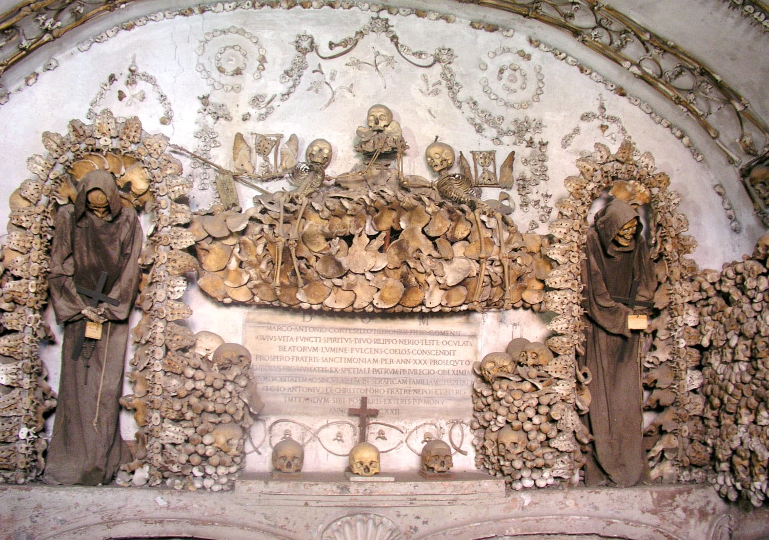 Capuchin Crypts and Catacombs in Rome Italy