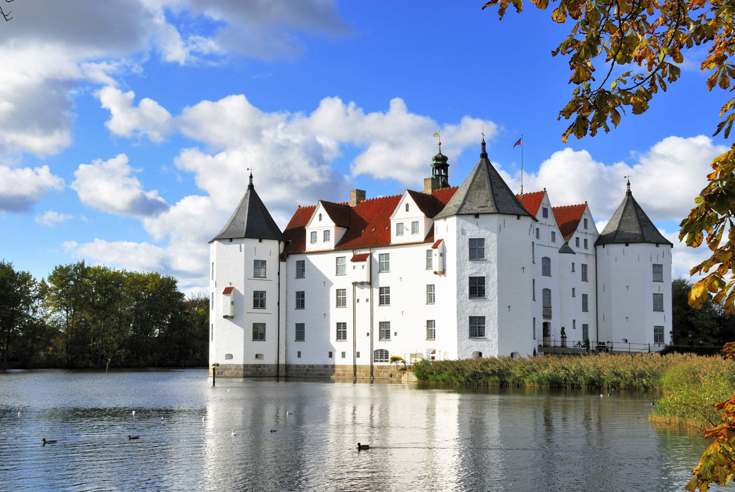 The Castle of Glucksburg in Flensburg German