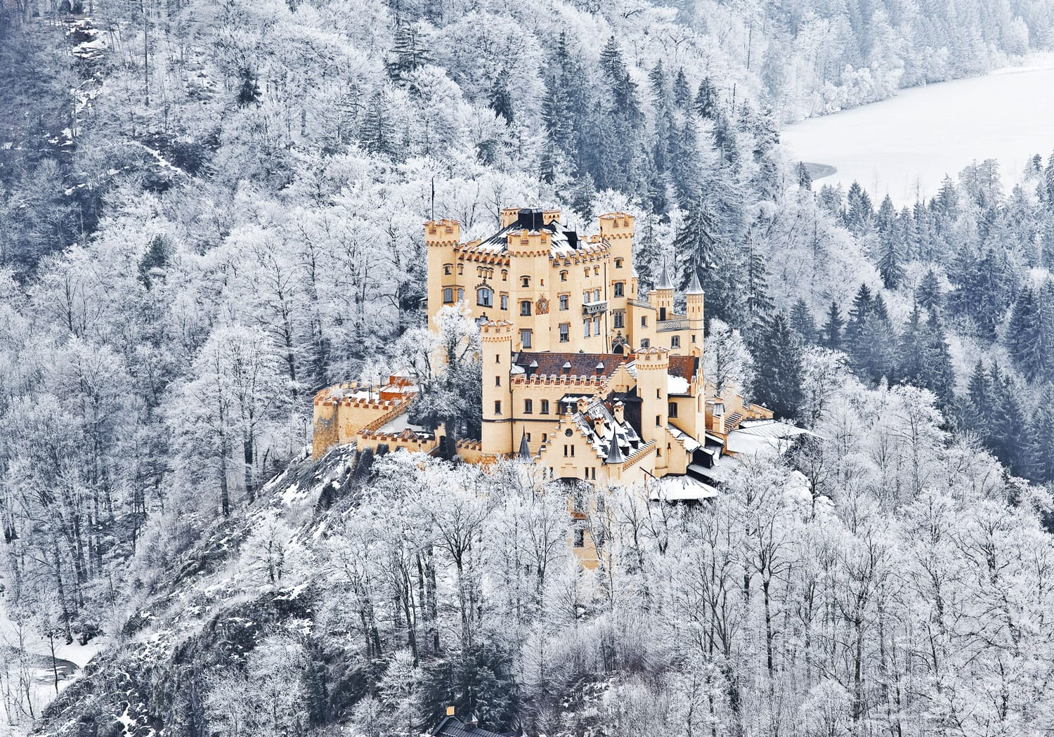 he castle of Hohenschwangau in Bavaria, Germany.