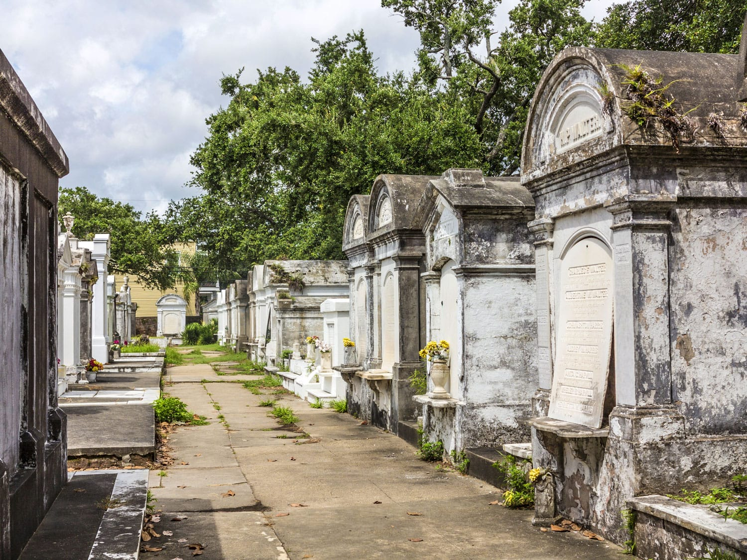 Grave site at the Saint Louis Cemetery No 1. in New Orleans