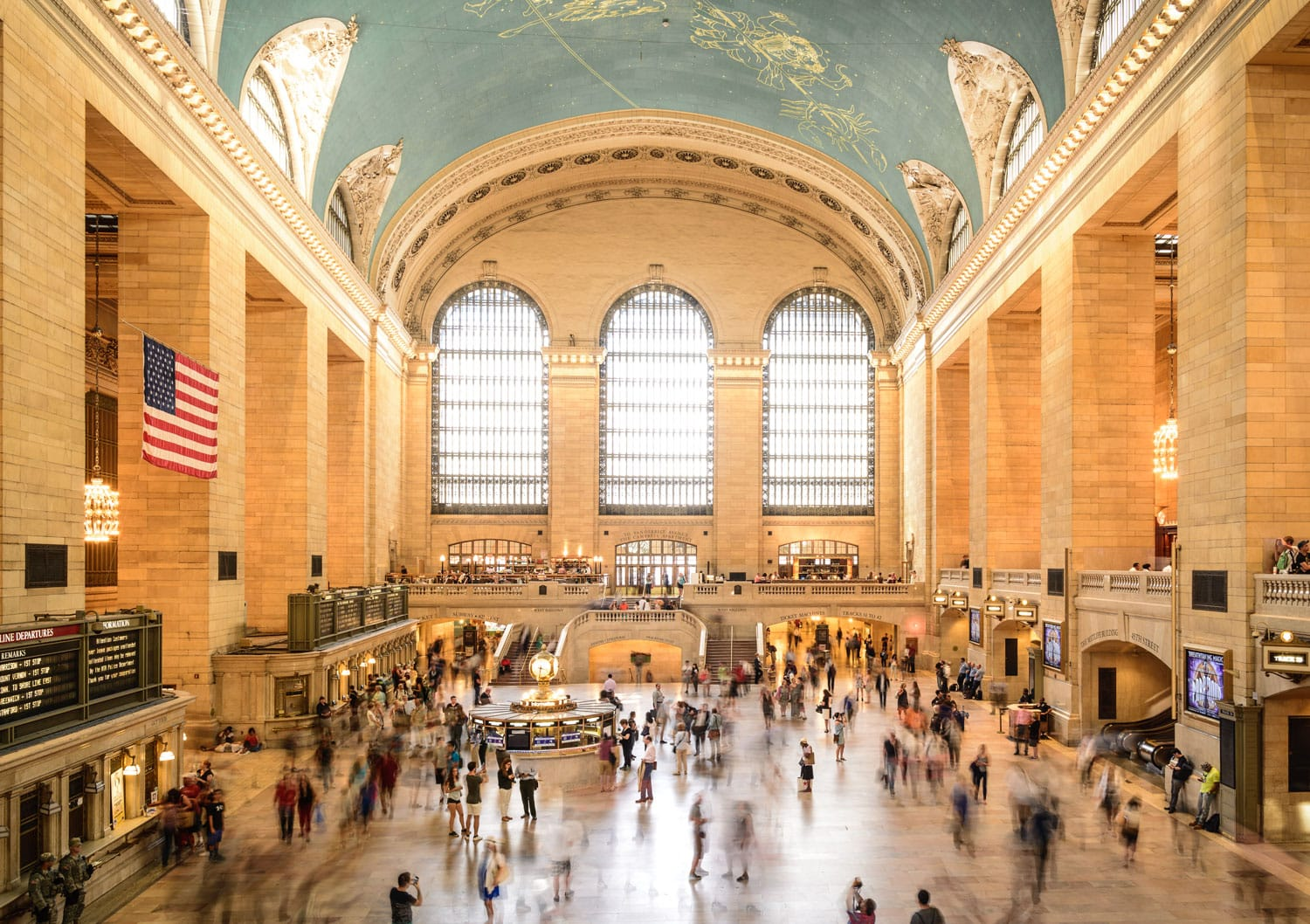 Commuters and tourists in the Grand Central Station in New York.