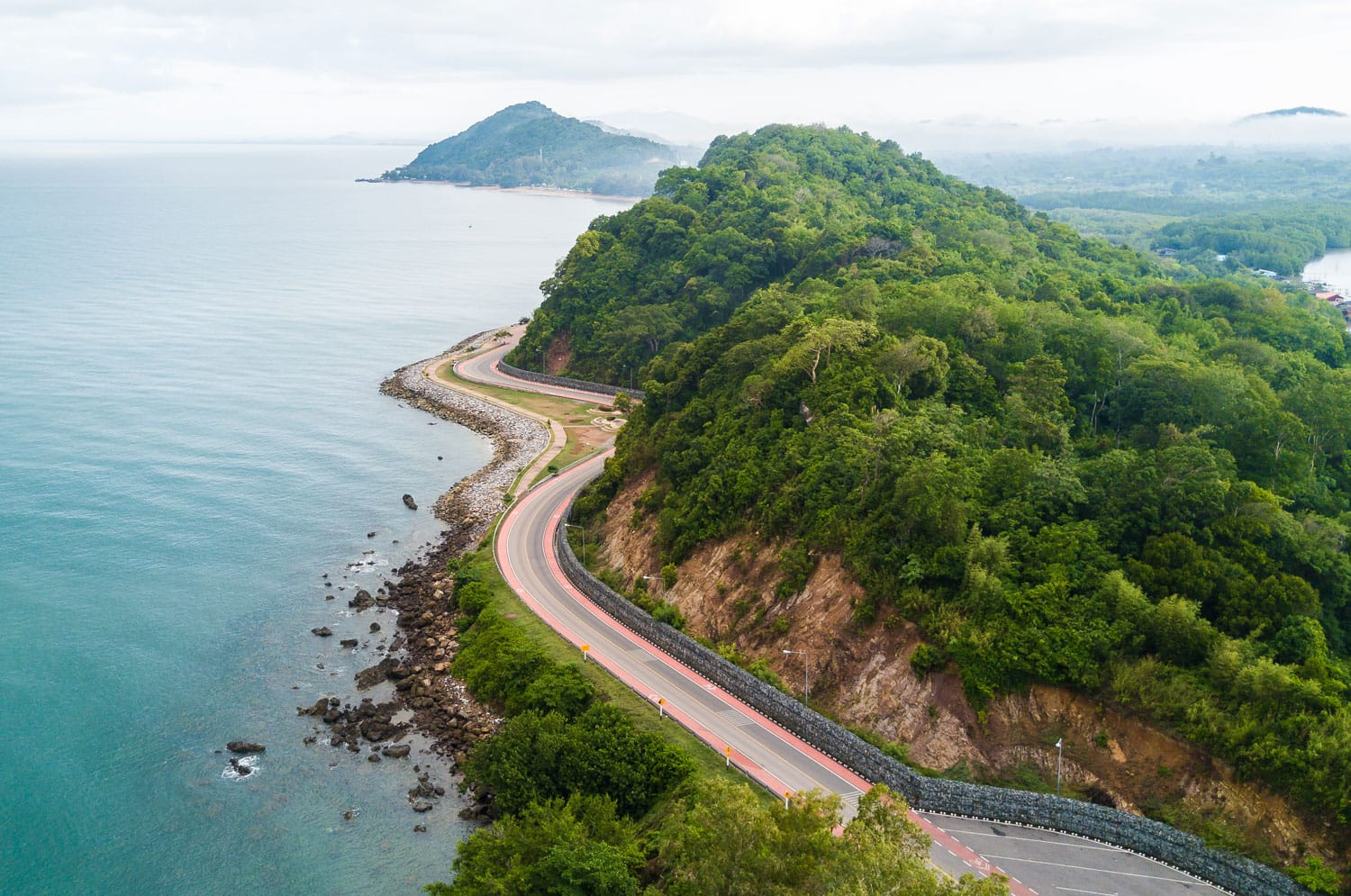 Chalerm Burapha Chonlathit Highway look from Noen Nangphaya View Point , Chanthaburi province, Thailand