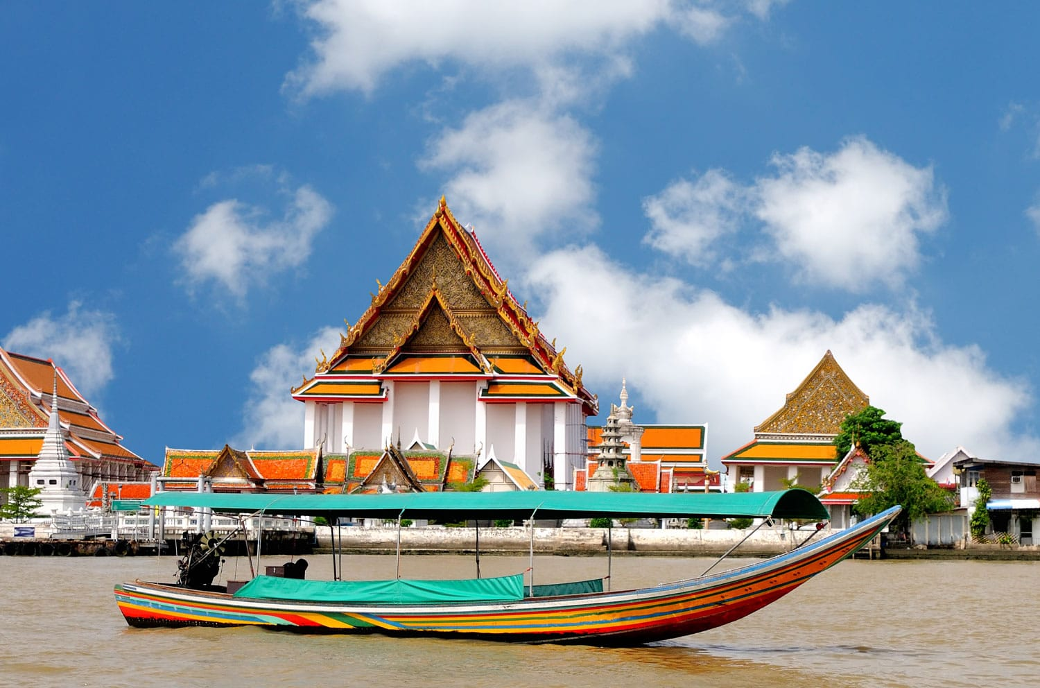 Boat on the river Chao Phraya, Bangkok, Thailand
