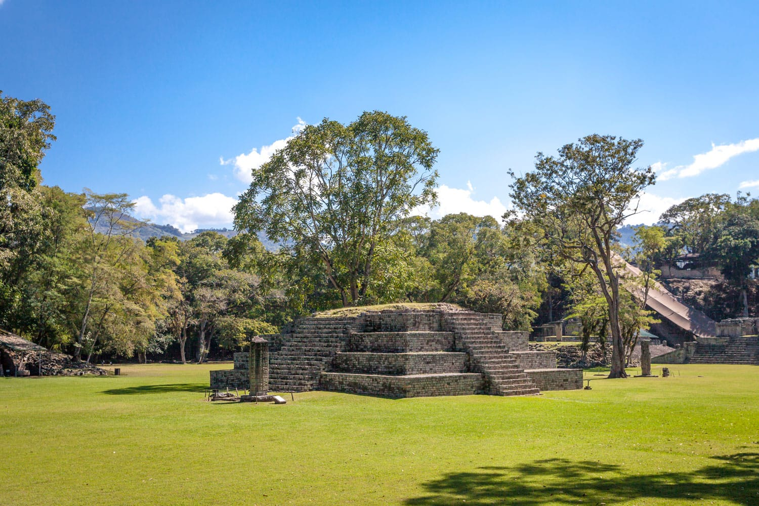 Ancient Mayan ruins in Copan, Honduras
